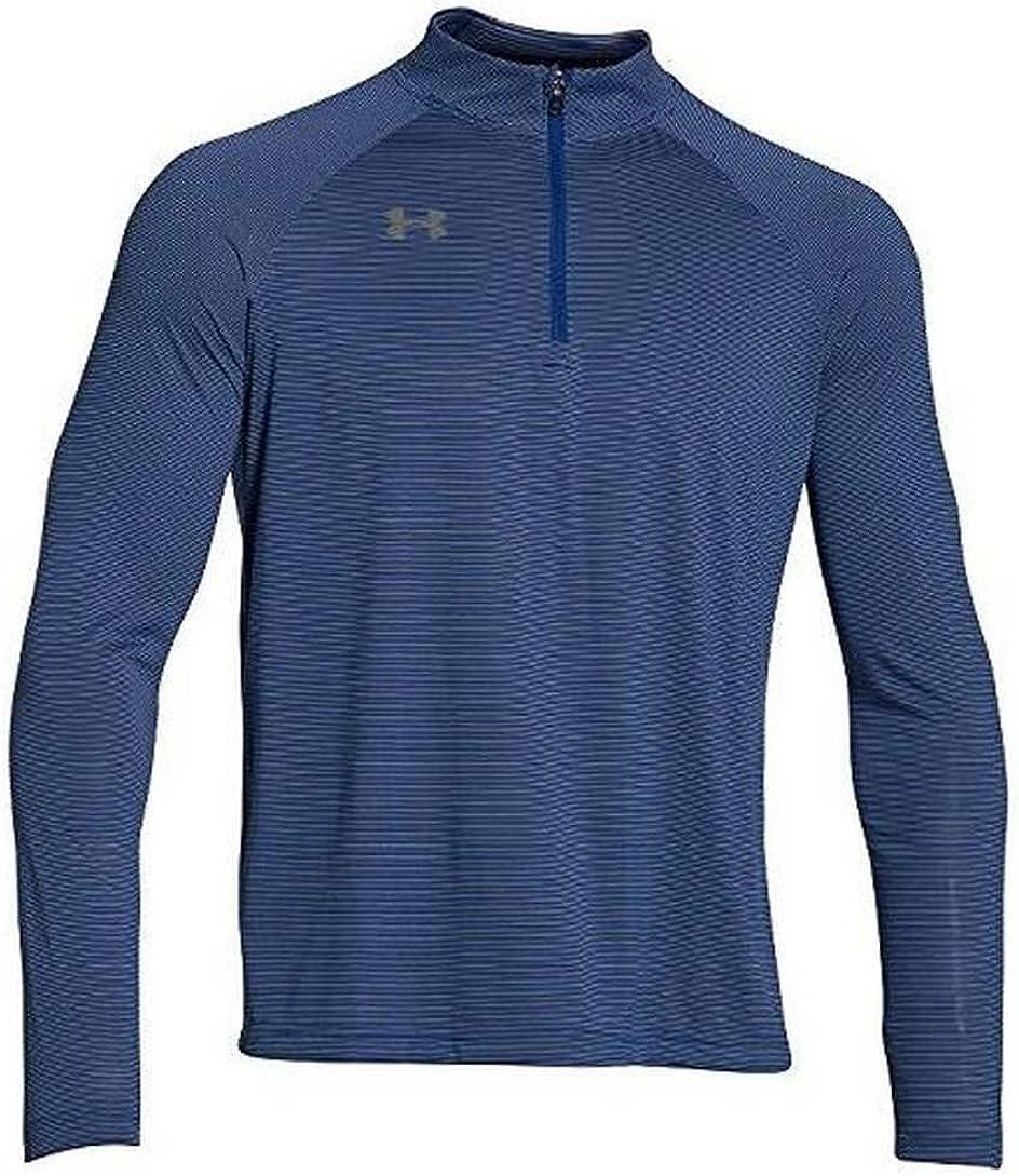 Under Armour Mens Stripe Tech 1//4 Zip Pullover