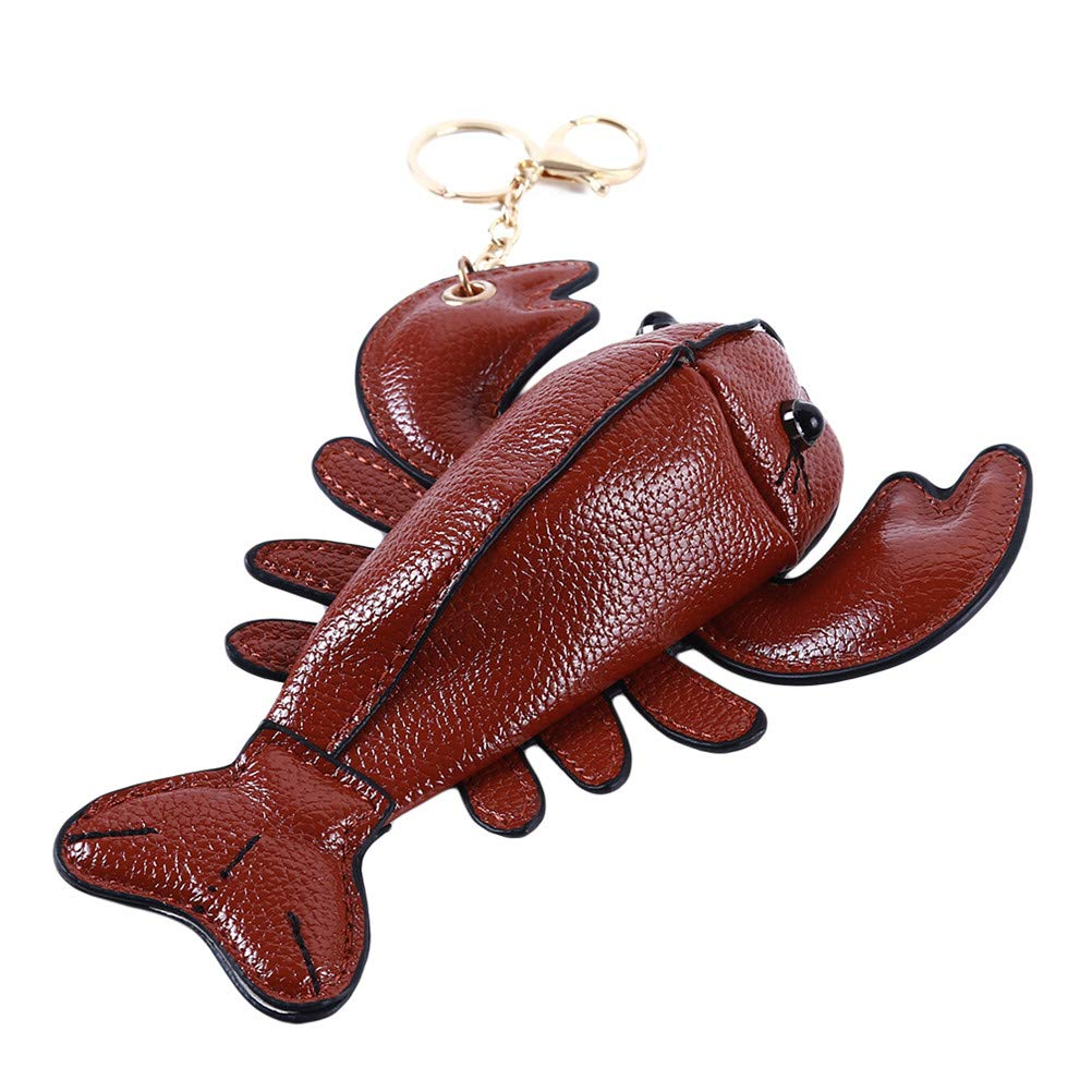 JIFNCR Cute Wallet Women Crossbody Bags Gift Funny Lobster Handbag Cartoon Coin Bag Storage Bag Purse,Brown