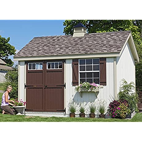 Little Cottage Company Colonial Pinehurst Precut Shed Kit 12 X20