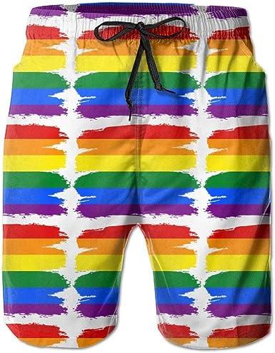 LGBT Pride Rainbow Flag Man Hiker Beach Swim Shorts Board Shorts