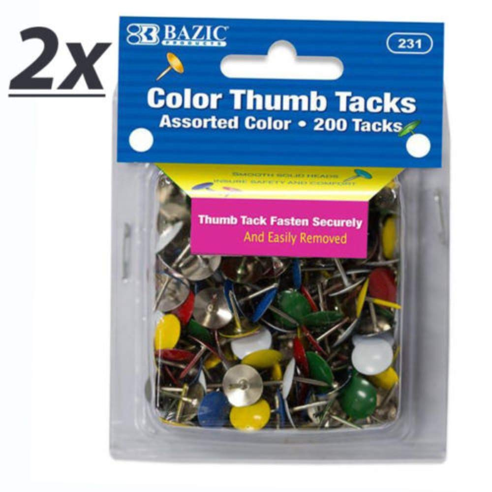 400 Assorted Color Push Pin Thumb Tacks Multi Color Head Office Home by Unknown (Image #2)
