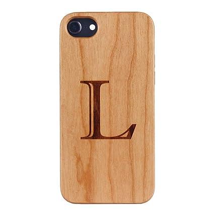 Amazon.com: Carcasa de madera natural para teléfono móvil ...