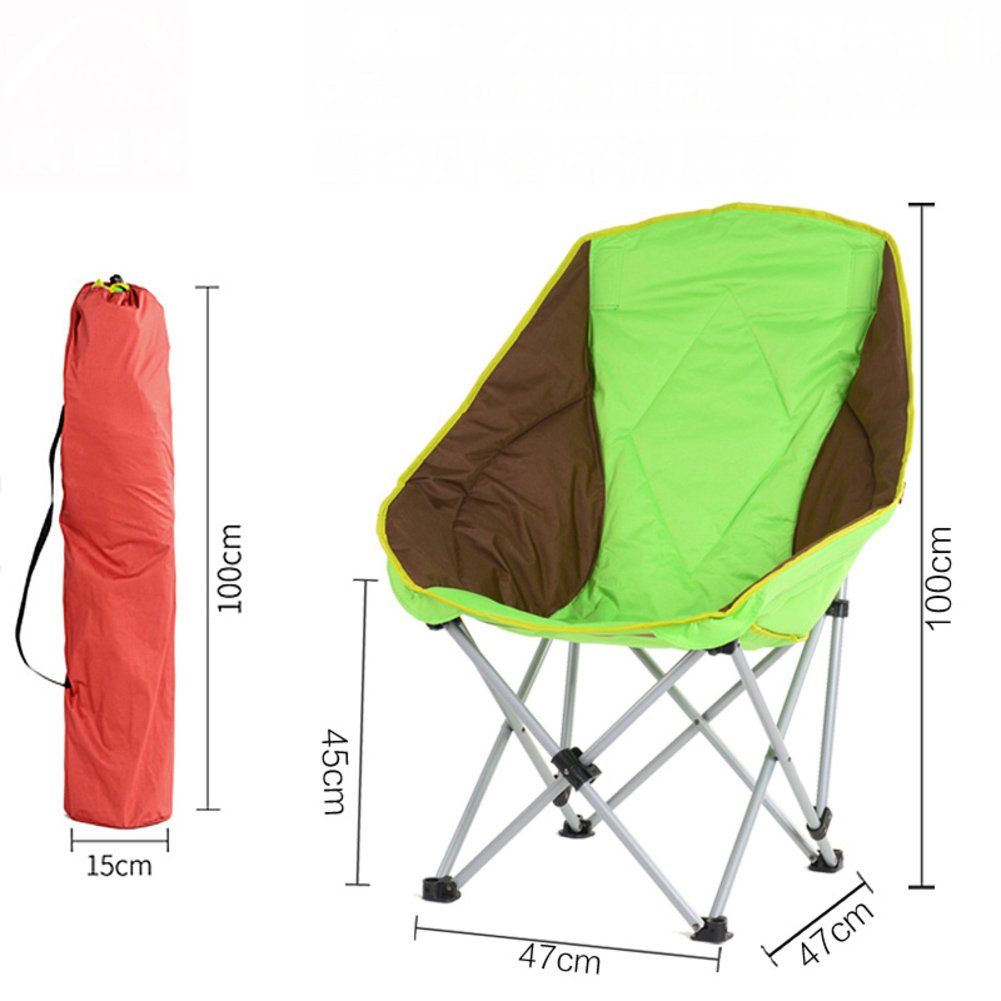 L&J 屋外 折りたたみ椅子, ポータブル キャンプ椅子 安定 レジャー 釣り椅子, ピクニック バーベキュー 絵画 スケッチ ビーチ 花火大会, 荷重 200 Kg を負荷します。 B07F59QK57 A A
