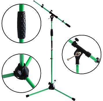 Metall-Sockel keepdrum MS106 GR Gr/ün Mikrofonst/änder Mikrofonstativ mit Galgen u universal Mikrofonklemme