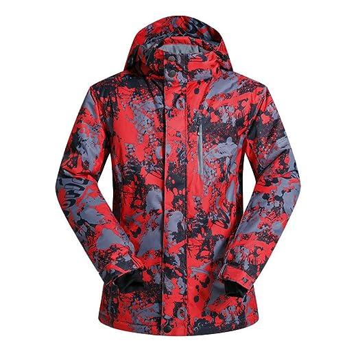 HXSKI Chaqueta de esquí para Hombre, Ski Snowboarding Coat Traje ...