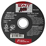 United Abrasives-SAIT 23101 Type 1 4-1/2-Inch x .045-Inch x 7/8-Inch A60S General Purpose Thin High Speed Cut-Off Wheels, 50-Pack