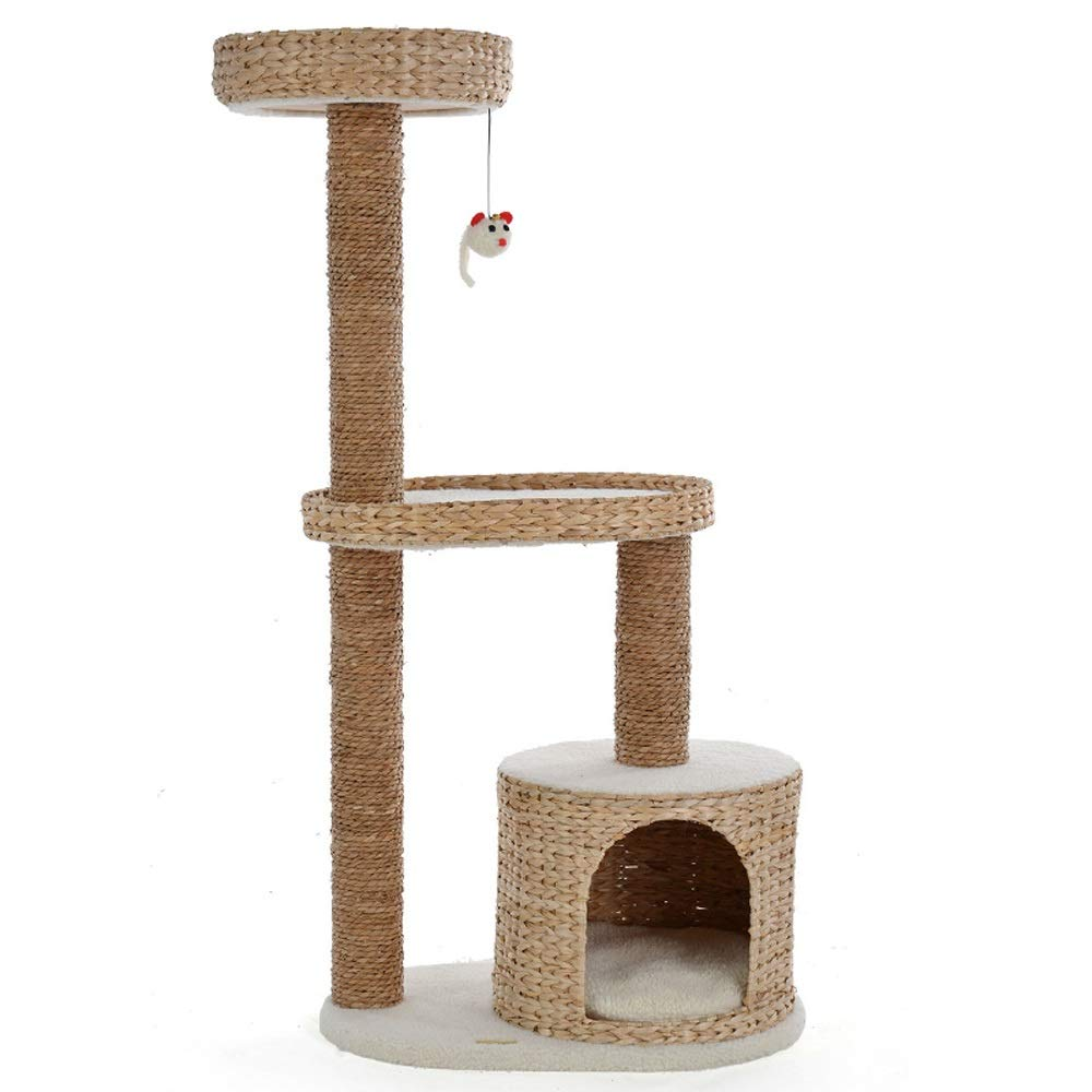 Jia He Cat Tree Natural sisal cat Climbing Frame Small cat Jumping cat House Tree Hole pet Toy cat Scratch Board Rice White @@