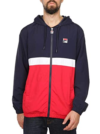b9a28a990ec8 Fila Vintage Men's Tate Zip Jacket, Blue: Amazon.co.uk: Clothing