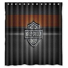 Brooding Youth Harley Davidson Design Bathroom Shower Curtain ,60X72 Inch