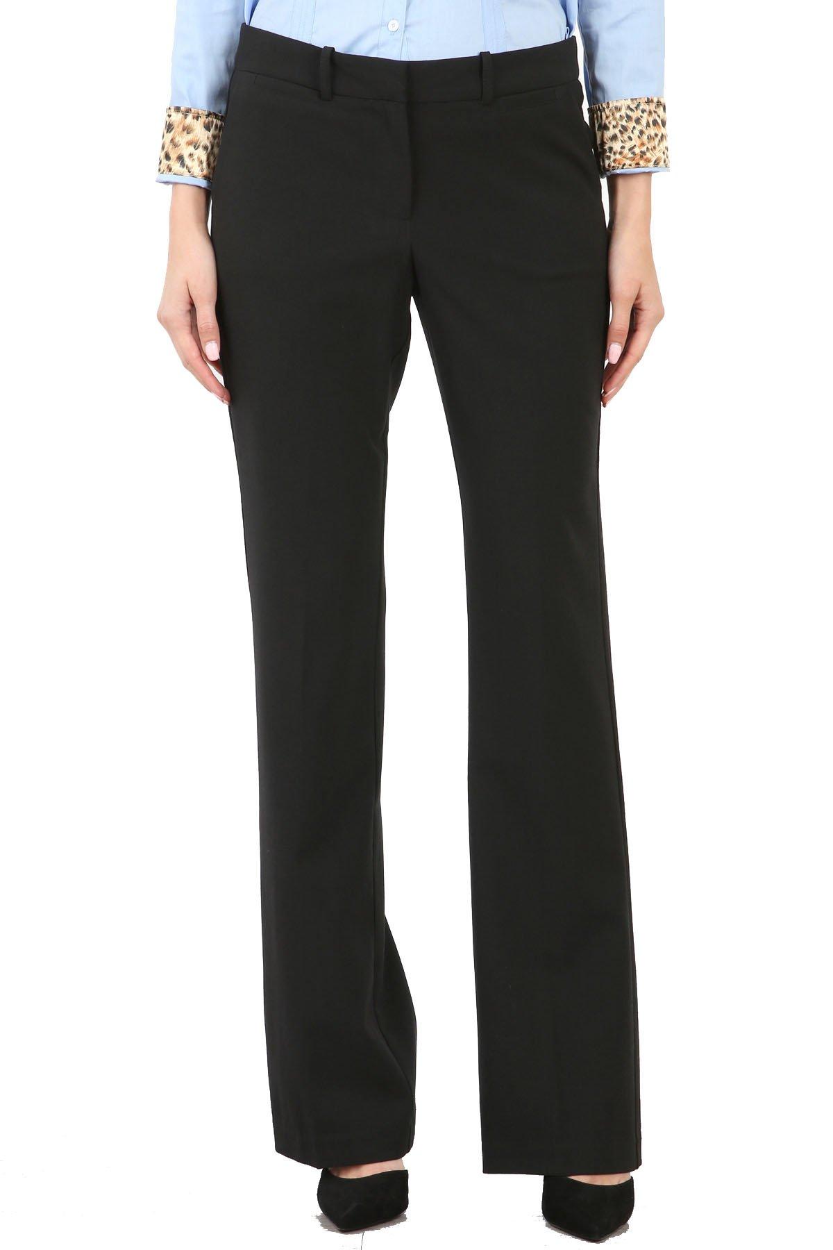 Maryclan Career Women's Dress Pants Little Boot Cut (Medium, Black)