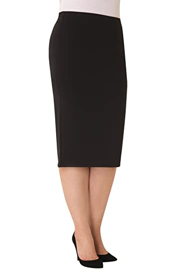 Parabita - Falda tubo elástica para Mujer Negro 50: Amazon.es ...