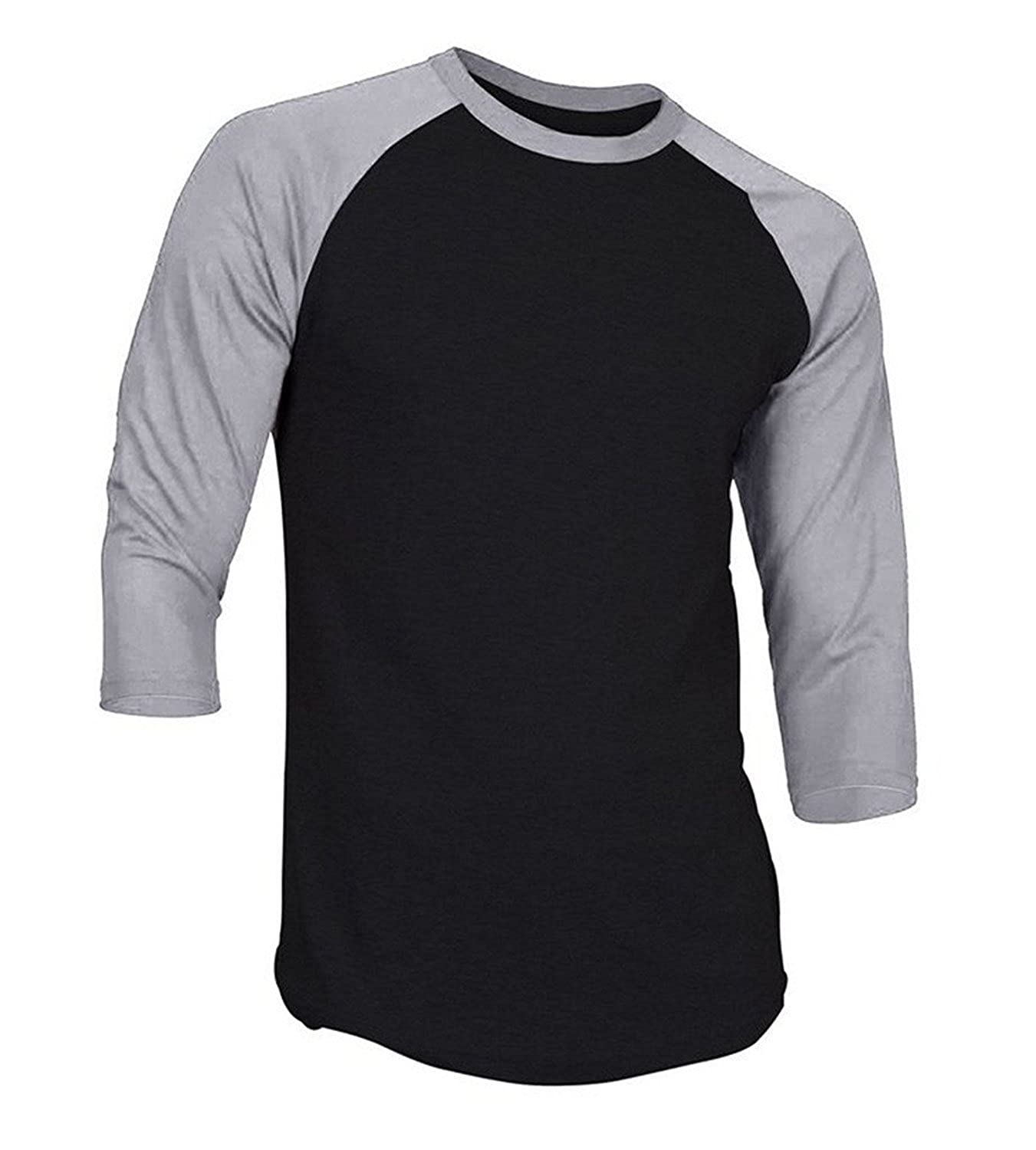 4c587a01 Hat and Beyond Mens 3/4 Sleeve Baseball T Shirt Soft Slim Fit Plain Jersey  | Amazon.com