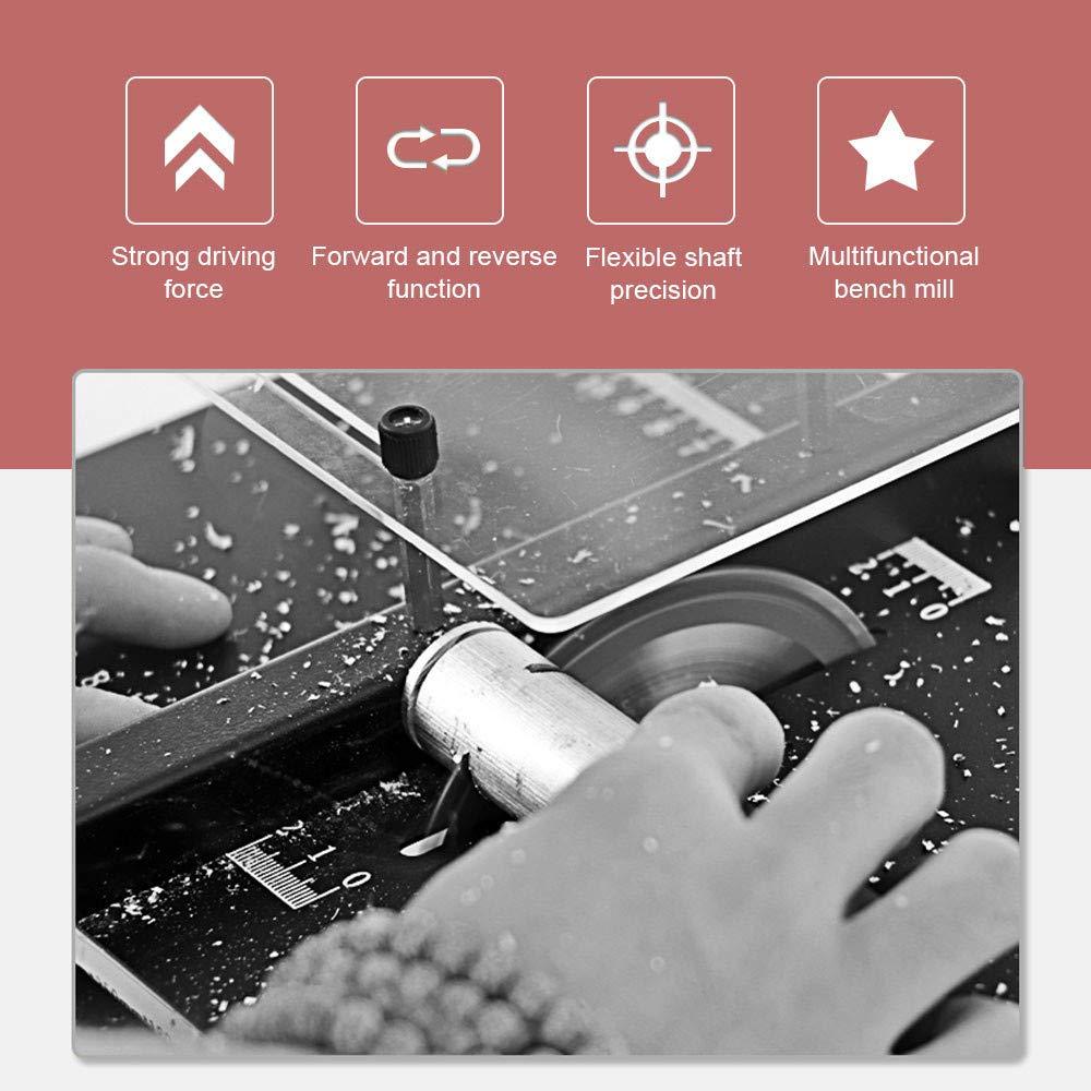 ETE ETMATE Sierra de mesa port/átil Mini sierra de mesa Hobby Velocidad progresiva Elevaci/ón ajustable 40 mm Profundidad de corte para manualidades de madera hechas a mano DIY