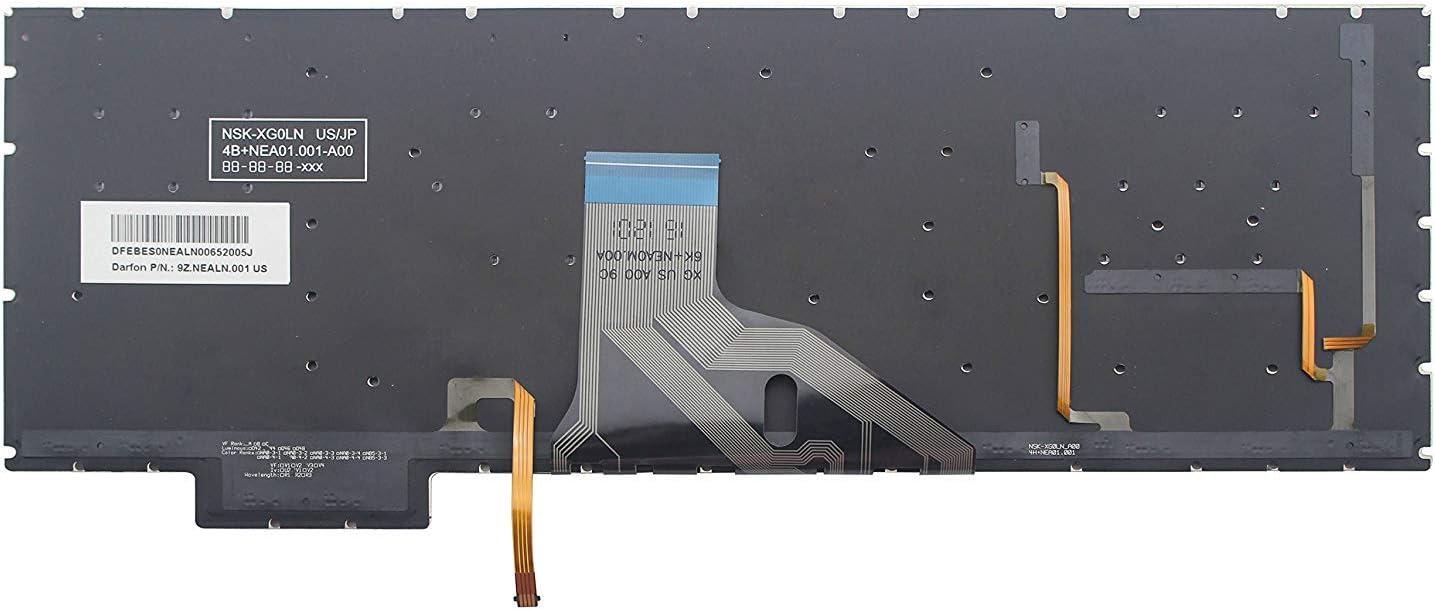 New US Black with Backlit Keyboard Fit HP OMEN 15-CE001la 15-CE002la 15-CE015np 15-CE016np,Without Frame
