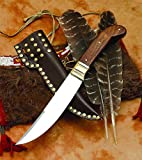 Great Lakes Trade Knife High Carbon Steel w/ Leather Scabbard