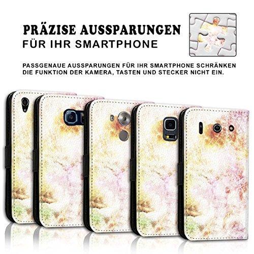Wallet Book Style Flip Handy Tasche Case Schutz Hülle Schale Motiv Etui für Apple iPhone 5 / 5S - Design Flip MV106