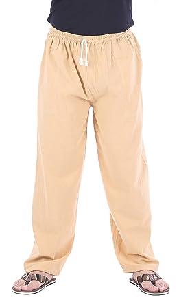 CandyHusky Homme Casual Jogging Yoga Pantalon de Sport en Coton Chino Pantalons  Pants (Beige cde86f29d54