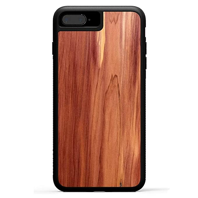 reputable site 16d8f 80fba Carved | iPhone 8 Plus | Luxury Protective Traveler Case | Unique Real  Wooden Phone Cover | Rubber Bumper | Eastern Red Cedar