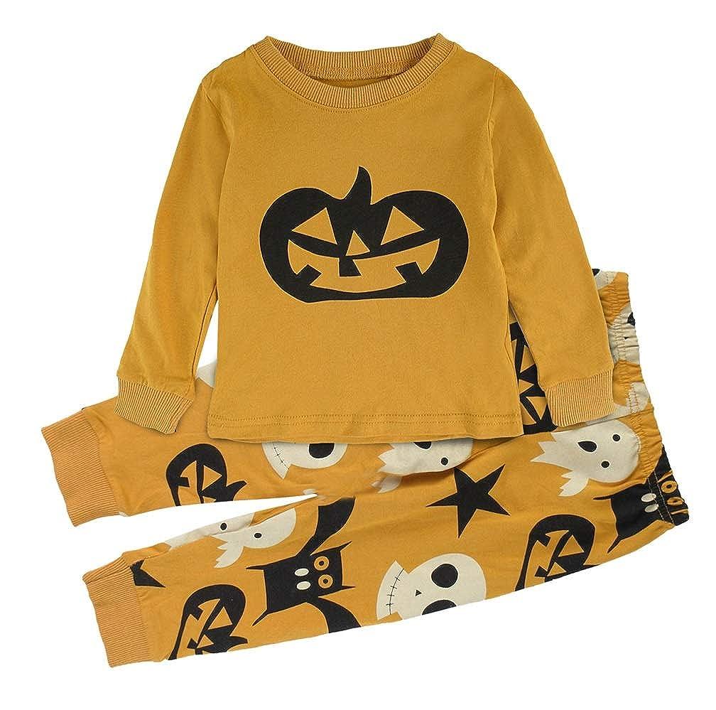 Mombebe Enfant Garcons Citrouille Pyjama Halloween Ensembles Vêtements De Nuit