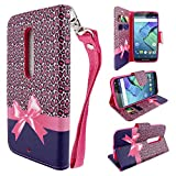 Motorola DROID MAXX / DROID ULTRA Wallet Case, Customerfirst, Flip Wallet Case for Motorola DROID MAXX / DROID ULTRA XT1080 XT1080M (Cheetah Paws)