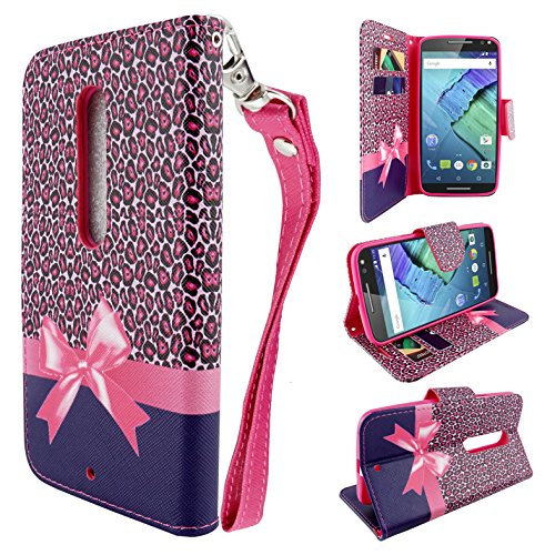 - HTC Desire 610 Case (AT&T), Customerfirst, Fold Style PU Leather Flip Design Wallet Pouch Credit Card Book Fold Case - With Key chain (Cheetah Paws)