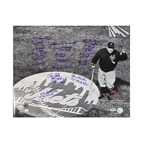(1962 New York Mets Autographed 16x20 Photo (20 Signatures) - PSA/DNA LOA)