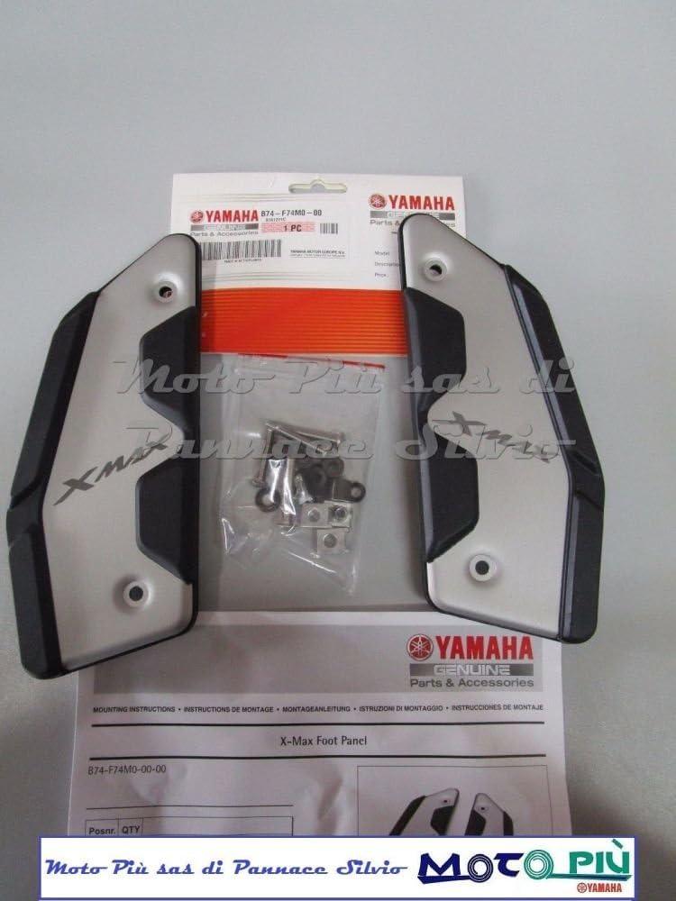 Original-Trittfl/ächen aus Aluminium f/ür Yamaha X-MAX 125 300 400 2017 2018
