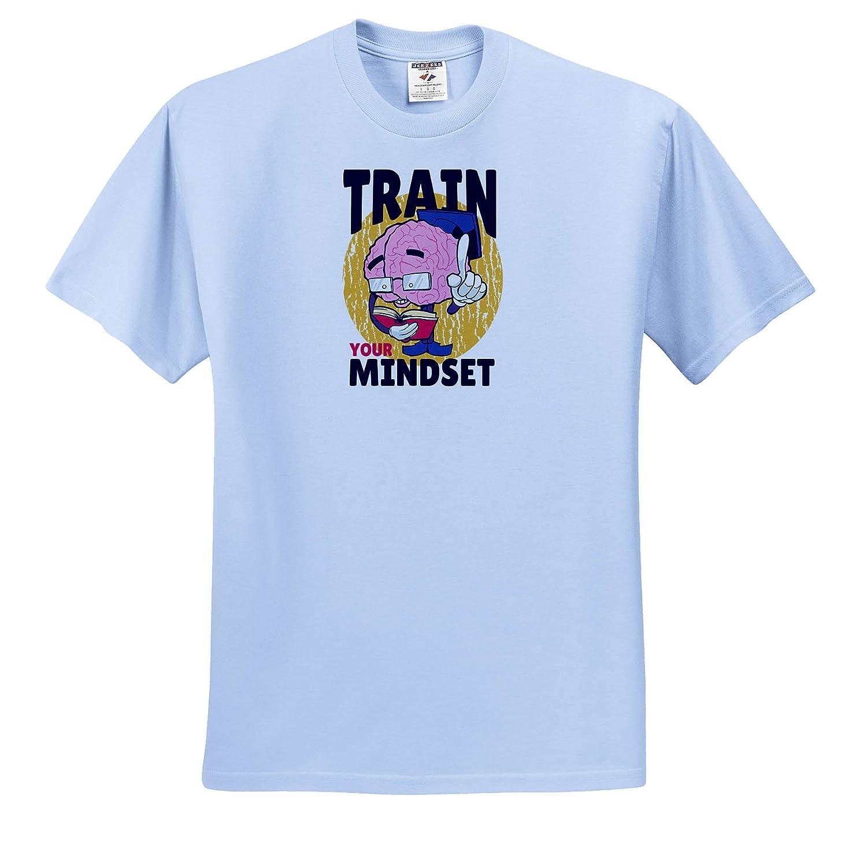 Train Your Mindset for High School Education ts/_319419 3dRose Sven Herkenrath Funny Adult T-Shirt XL