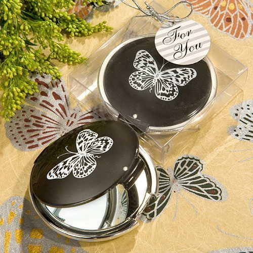 Collection Butterfly Mirror (Elegant Reflections Collection Butterfly Mirror Compact Favors (10) by Fashioncraft)