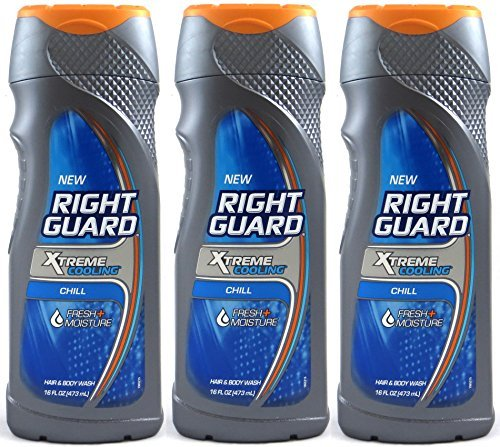 (Right Guard Xtreme Cooling Hair and Body Wash, Chill, 16 Oz (Pack of 3))