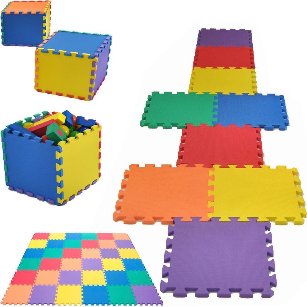 50 Piece Childrens Floor EVA Foam Tiles Play Mat Set - Each Tile 30 x 30cm by FunkyBuys
