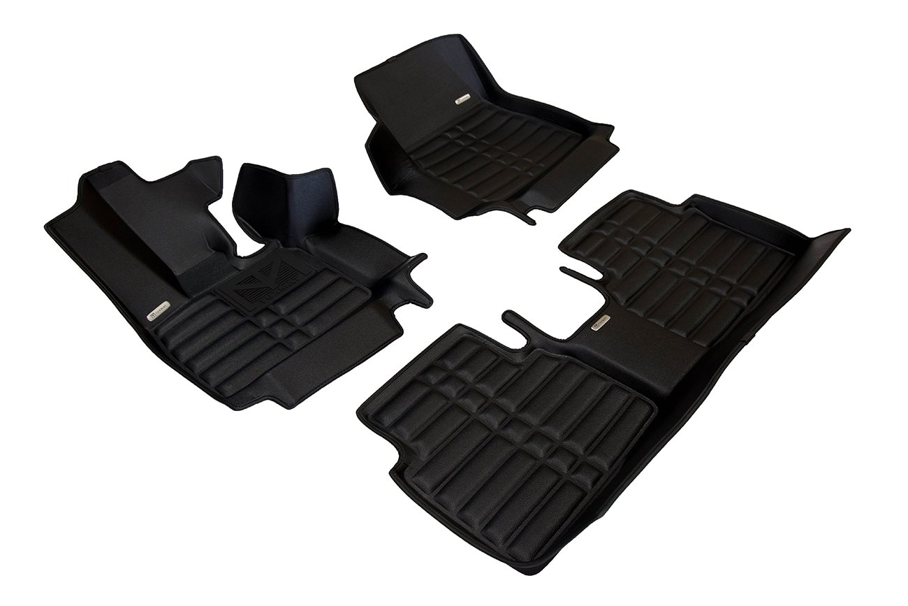 Largest Coverage Full Set - Black TuxMat Custom Car Floor Mats for BMW i3 2014-2020 Models//- Laser Measured All Weather The Ultimate Winter Mats Waterproof