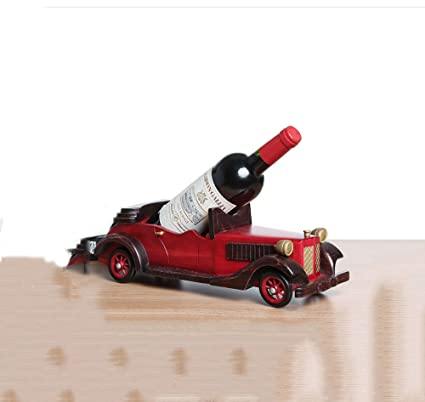 Artículos y equipo de servicio para la restauración Botelleros Moderno Retro clásico Coche Vino de Madera Maciza botellero Vino Estante del Vino Estante del Vino decoración del hogar Adornos creativos