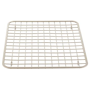 interdesign gia kitchen sink protector grid mat regular satin - Kitchen Sink Protector