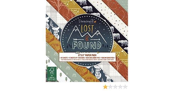 gran calidad bloc de 15 x 15 cm Colecci/ón de papeles para manualidades Lost /& Found de Dovecraft con dise/ño forestal