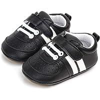 MASOCIO Zapatos Unisex Bebe Niño Niña Recién Nacido Primeros Pasos Zapatillas Deportivas Bebé Suela Blanda…