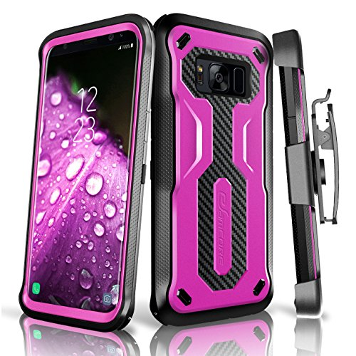 Galaxy S8 Rugged Case, eSamcore Samsung Galaxy S8 Slim Protective Case with Heavy Duty holster [Without Built in screen protector] 5.8 Inch [2017 Release] [PURPLE]