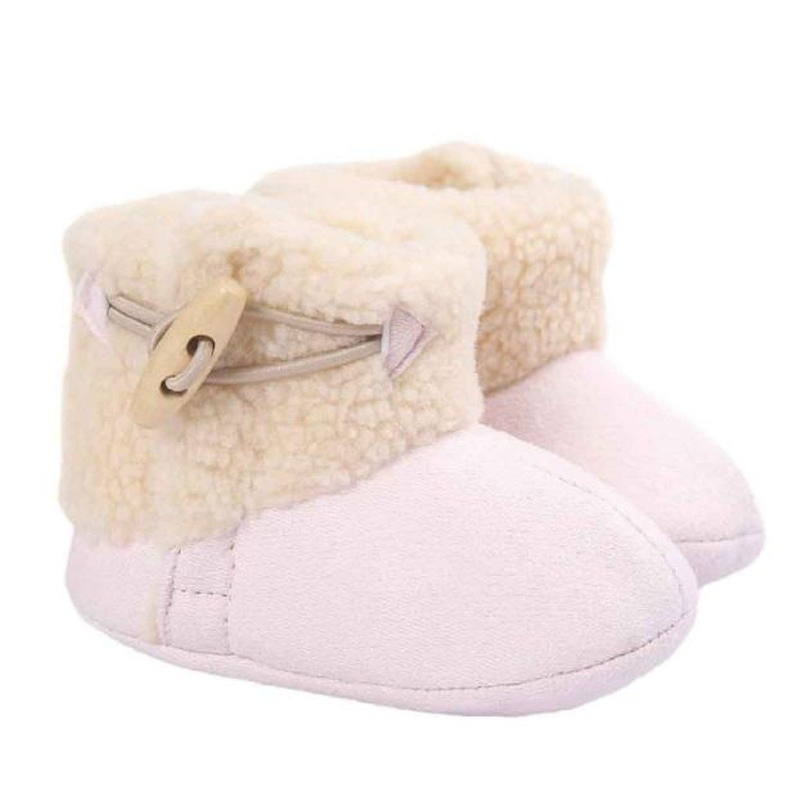 Egmy Baby Shoes Baby Keep Warm Soft Sole Snow Boots Soft Crib Shoes Toddler Boots