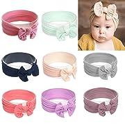 Baby Nylon Elastic Knotted Headbands Baby Head Wraps Baby Headbands Bows (ZM07)