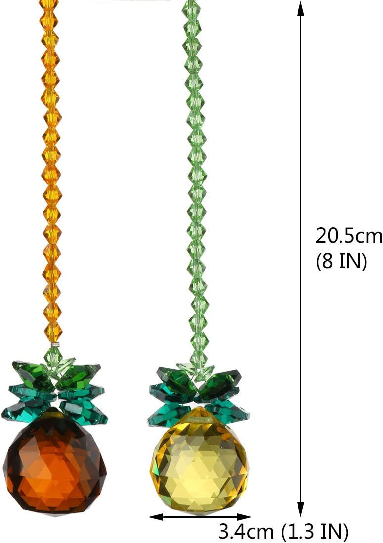 Amazon.com: H&D Ángel bola de cristal colgante araña ...