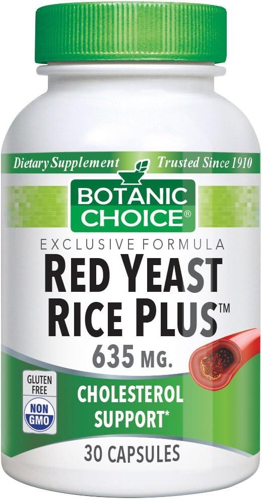 Botanic Choice Red Yeast Rice Plus, 30 Capsules Pack of 4