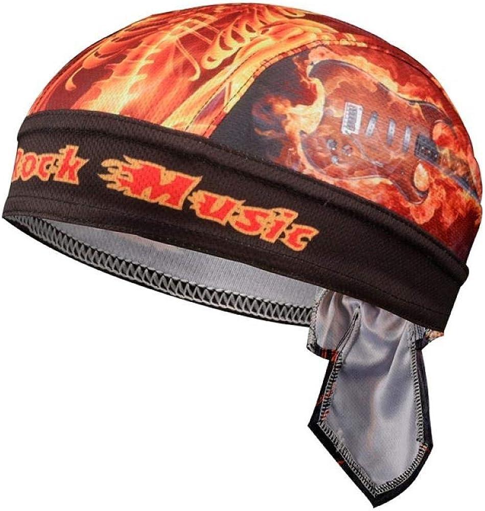 RNGZC Gorro de Pescador Bicicleta De Montaña Sombrero De Pirata Humedad Transpirable Montar A Caballo Turbante Sombrero Casco De Bicicleta Forro