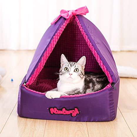 Huangyingui Cubierta de Cama para Mascotas Cama para Mascotas Tienda de campaña Cat Winter Self Warm