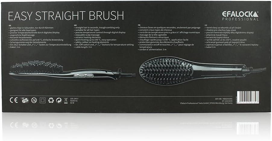 solo mediante spazzole Efalock EASY Straight Brush liscia capelli in secondi