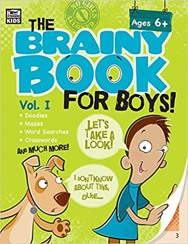 5 Top Reviewed Brainy Books For Holiday >> Brainy Book For Boys Volume 1 Ages 6 11 Amazon Co Uk Thinking