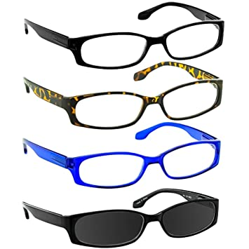 70cf1d0f1d87 Reading Glasses 1.0 Black Tortoise Blue Sun Black Readers for Men and Women  Stylish Look and