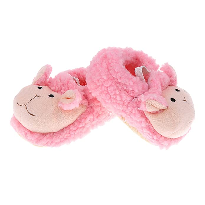 Amazon.com | Prettyia Baby Boys Girls Winter Non-Slip Slipper Shoes ...
