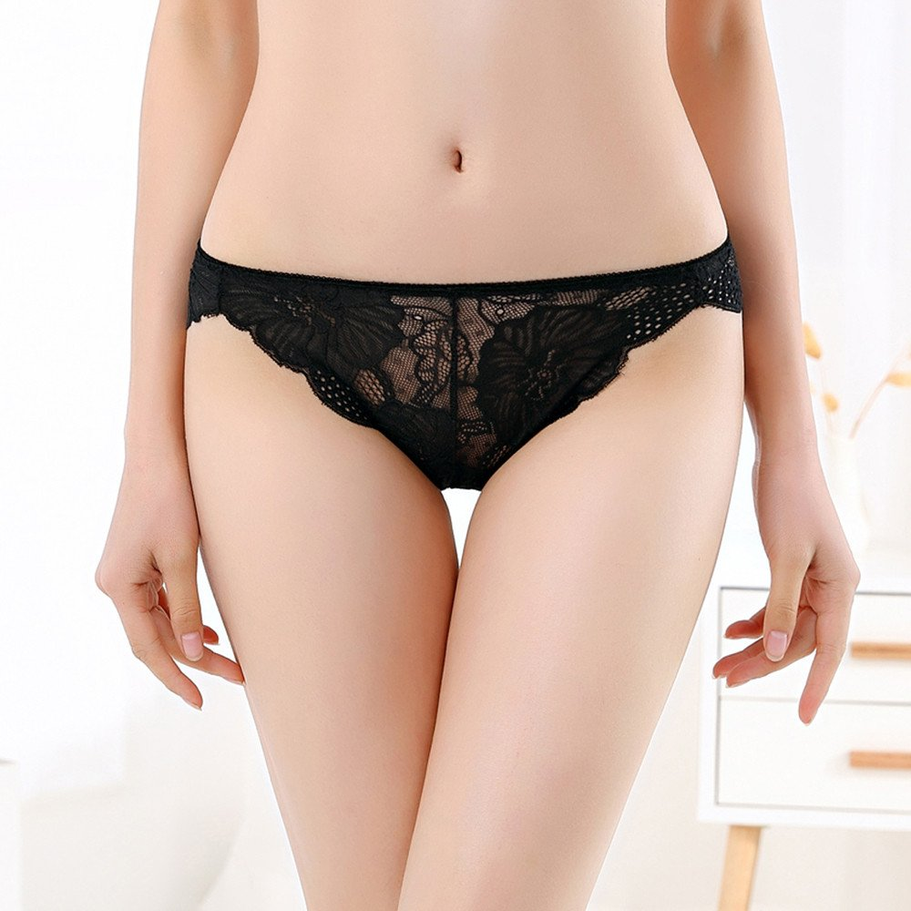 95c7ce40144 Amazon.com  Thong For Womens,Clearance Sale -Farjing Women Thong Sexy  Panties Thong Lace Word Pants Ladies Briefs Underwear(Free Size,Black )   Clothing