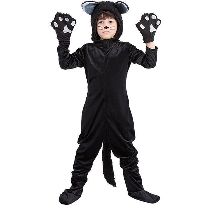 Amazon.com: ViewHuge - Disfraz de gato negro para niños ...