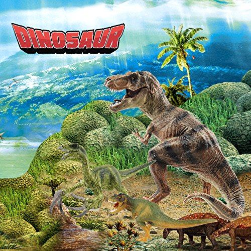 BooTaa Tyrannosaurus Rex, Large Dinosaur Toys, T Rex, Lifelike Jurassic World Dino, Birthday Party Game Supplies, Action Figure Playset, Gifts for 3 4 5 6 Years Old Boys Kids Toddlers Girls,Pack of 4